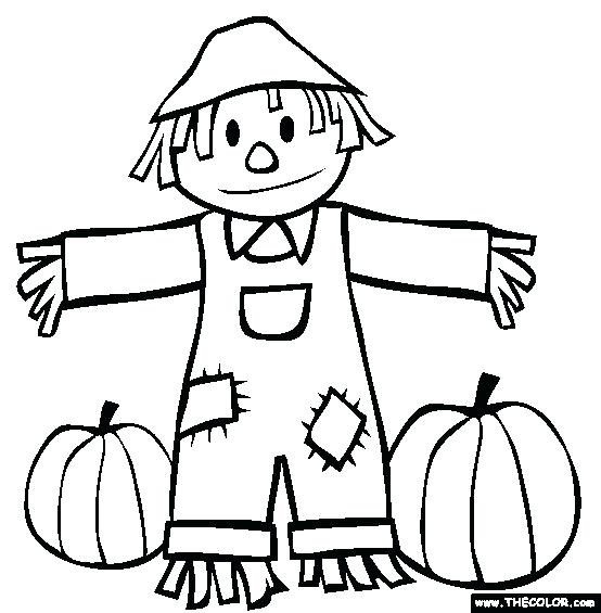 preschool fall coloring pages fall scarecrow and pumpkins coloring page free preschool autumn coloring pages