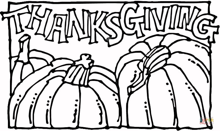 thanksgiving pumpkins coloring page